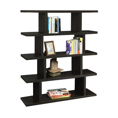 Convenience Concepts Northfield 5 Tier Block Bookshelf in Espresso Wood Grain