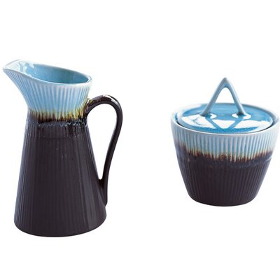 Caldo-Freddo Kon-Tiki Sugar Bowl and Creamer Set