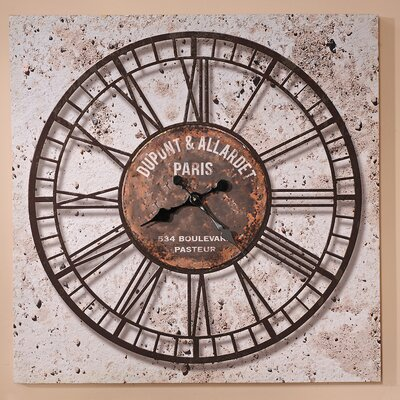 GiftCraft Distressed Wall Clock