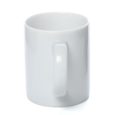 Ten Strawberry Street Classic White 10 oz. C Handle Straight Sided Mug