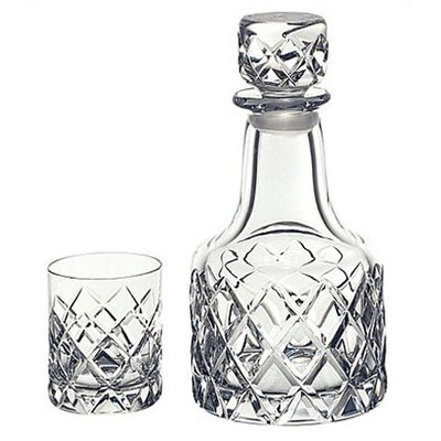 Orrefors Sofiero Decanter with 2 Glasses