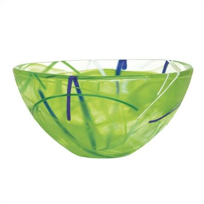 Kosta Boda Contrast Small Lime Bowl