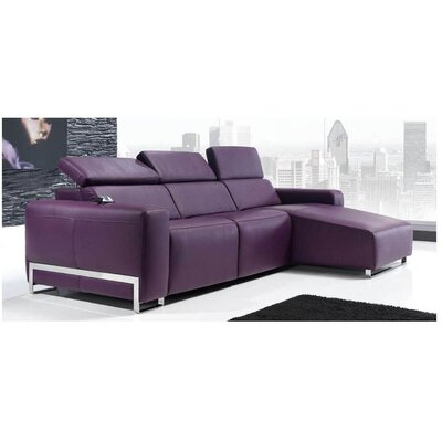 Eurosace Luxury Napoli Sectional Sofa with Chaise Lounge