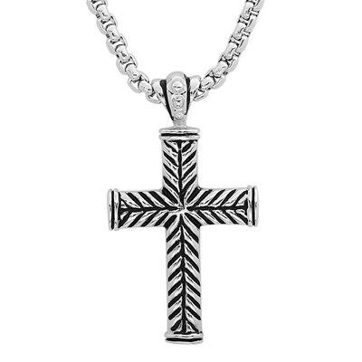Stainless Steel Gothic Cross Pendant