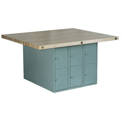 Shain Four Station Workbench with Six Locker Openings