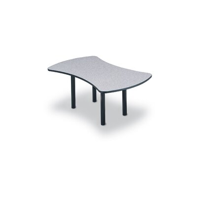 "ABCO 96"" Wide Break Out Top Conference Table with Slab Base"