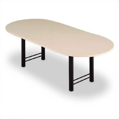 "ABCO 72"" Wide Oval Top Conference Table with Curved Plinth Base"