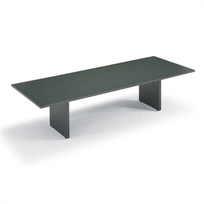 ABCO 144&quot; Wide Rectangle Top Conference Table with Curved Plinth Base