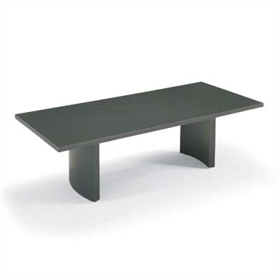 "ABCO 144"" Wide Self Edge Rectangle Top Conference Table with Curve Base"