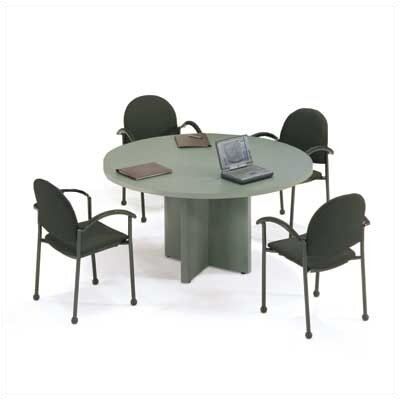 "ABCO 48"" Diameter T-Mold Round Top Gathering Table with X-Base"