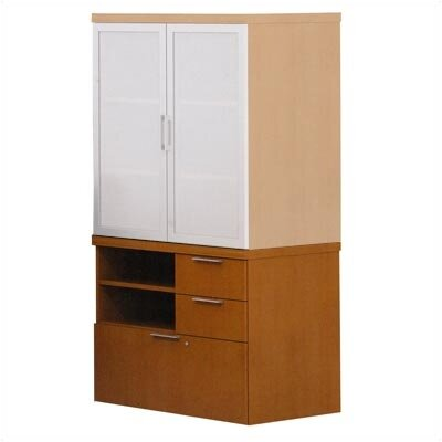 ABCO Unity Executive Series Wood Floating Mixed Storage Cabinets