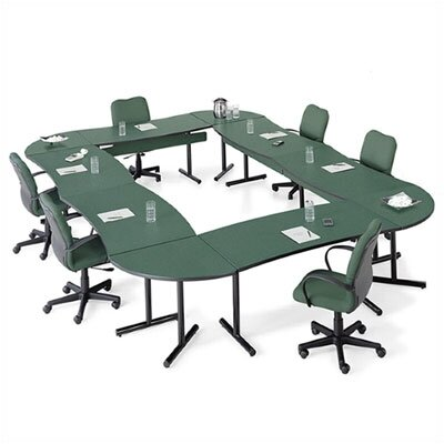 "ABCO Smart Tables: 30"" x 72"" High-Pressure Laminate Conference Kit (Concave Crescent)"