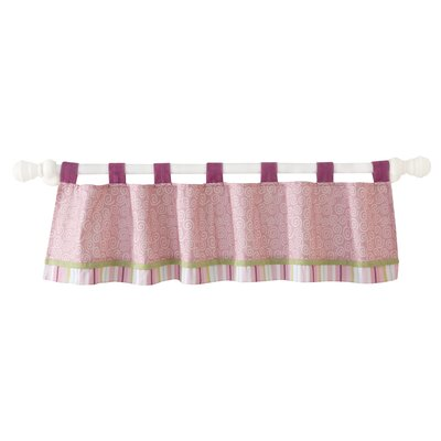 Lambs & Ivy Lollipop Jungle Tab Top Tailored Curtain Valance