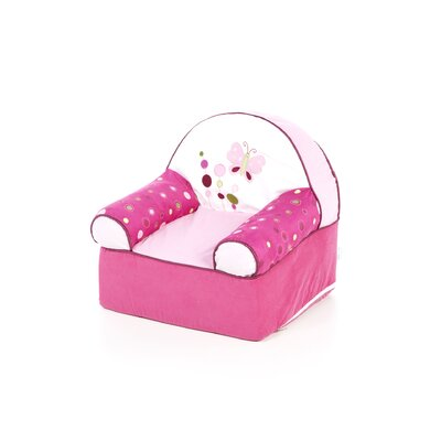 Lambs &amp; Ivy Raspberry Swirl Kid's Recliner
