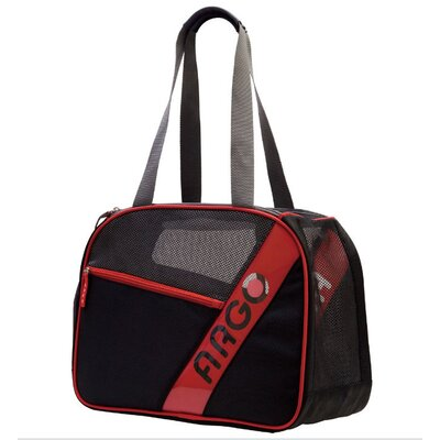Teafco Argo City-Pet Medium Airline Approved Pet Carrier in Black with Red Trim