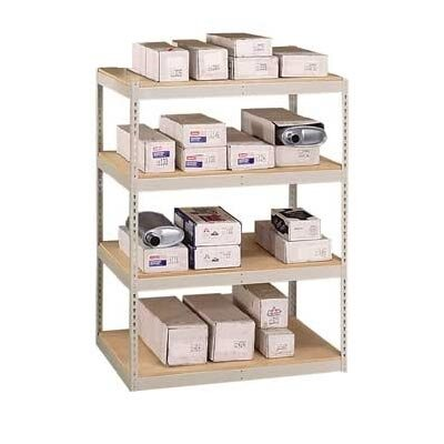 "Penco 72"" & 96"" Wide Double Rivet Units (with Center Support) - 4 Shelf Starter Unit, w/ Channel Beams"