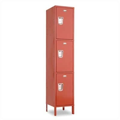 Penco Guardian Medallion Lockers - Triple Tier - 1-Wide (Unassembled)