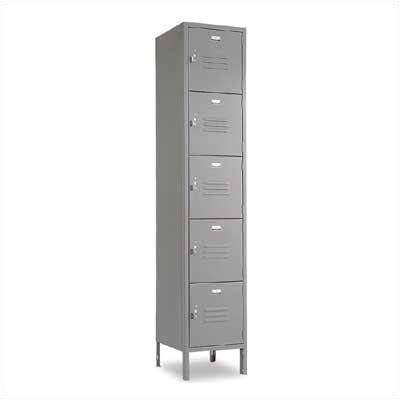 Penco Vanguard Unit Packaged Lockers - Five Tiers - 1 Section (Unassembled)