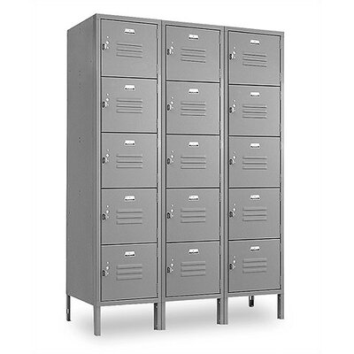 Penco Vanguard Lockers Five Tiers 3 Wide Locker (Assembled)