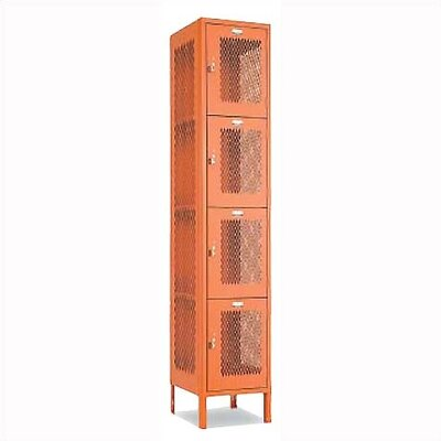 Penco Invincible II Lockers - Four Tier - 1-Section (Assembled)