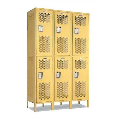 Penco Invincible II Lockers- Double Tier- 3- Section (Unassembled)