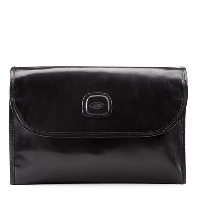 Bric's Life Leather Tri-Fold Hanging Toiletry Bag