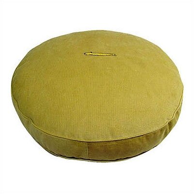 George SF Lime Corduroy and Sherpa Round Pet Bed