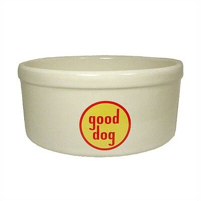 Good Dog Logo Porcelain Dog Bowl