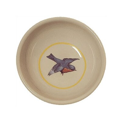 Blue Bird Porcelain Cat Bowl