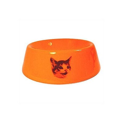 George SF Slope Side Happy Cat Bowl