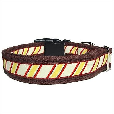 George SF Repp Stripe Cotton Dog Collar