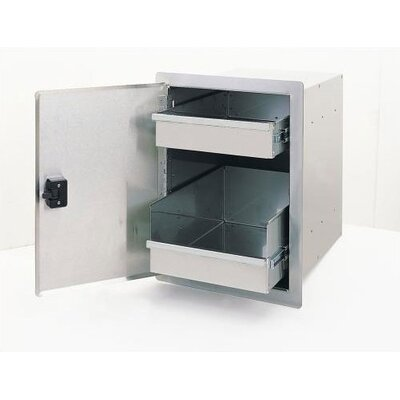 Fire Magic Legacy Single Access Stainless Steel Door with Dual Drawers