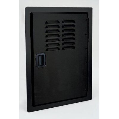 Fire Magic Legacy Single Access Black Powder Door with Louvers