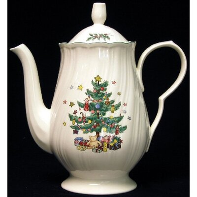Nikko Ceramics Happy Holidays Coffee Pot and Lid