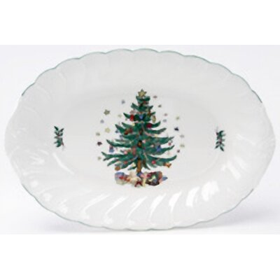 Nikko Ceramics Happy Holidays Oval Platter