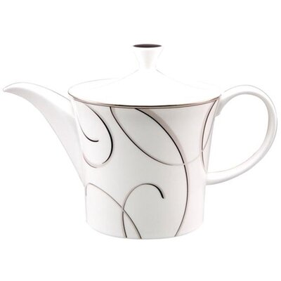 Nikko Ceramics Elegant Swirl 28 oz Beverage Pot