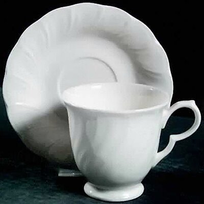 Nikko Ceramics White Satin Saucer