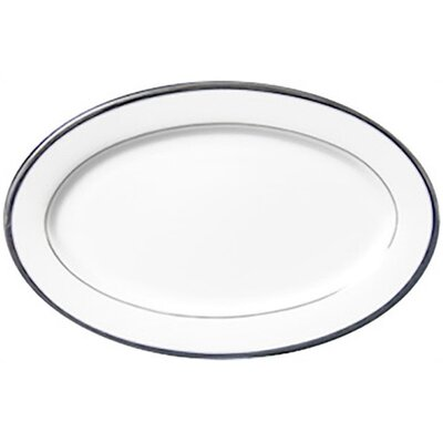 Nikko Ceramics Sentiments Band of Platinum Relish / Butter Oval Serving Tray