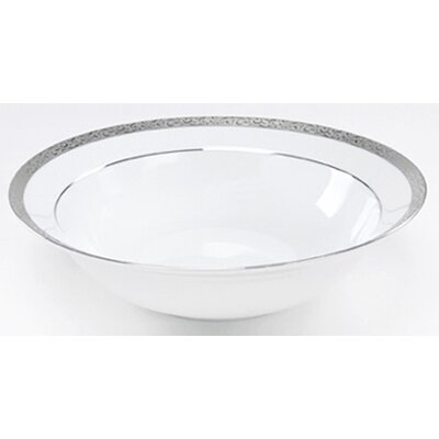 "Nikko Ceramics Sentiments Platinum Filigree 9"" Vegetable Bowl"