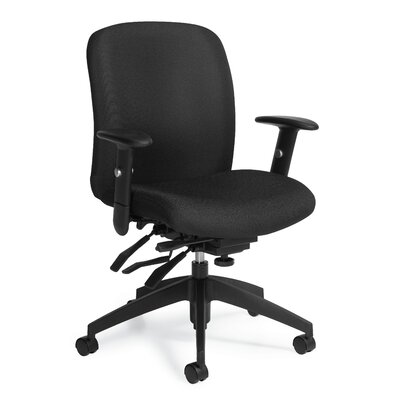 Global Total Office Truform Mid-Back Multi Office Chair with Arms
