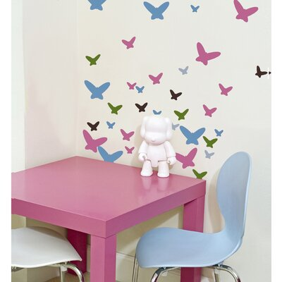 WallCandy Arts Flutterflies Removable Wall Decals