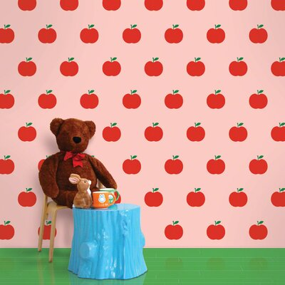 WallCandy Arts Apple Wallpaper in Red and Pink