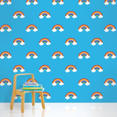 WallCandy Arts Rainbows Wallpaper in Blue