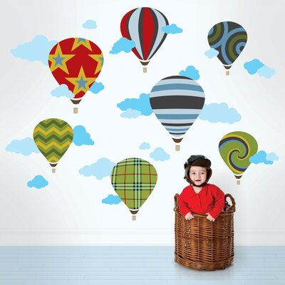 WallCandy Arts Hot Air Balloons Wall Decal