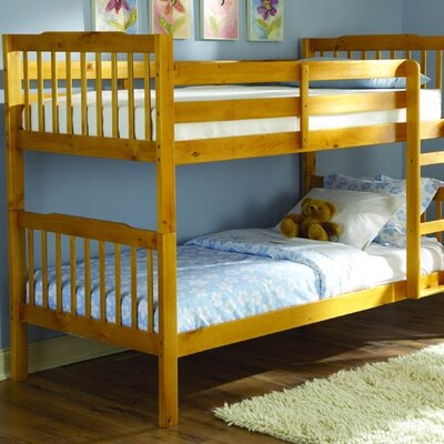 Woodbridge Home Designs B27 Series Twin over Twin Bunk Bed with Built-In Ladder
