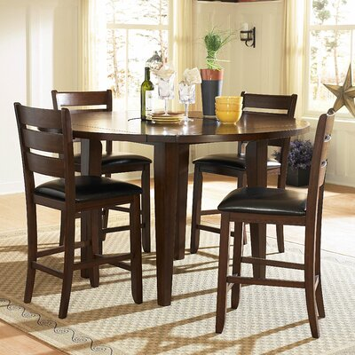 Woodbridge Home Designs Ameillia 5 Piece Counter Height Dining Set
