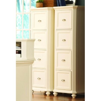 8891 Series Four Drawer File Cabinet in White