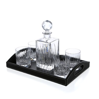 Crystal Soho Bar Set With Tray