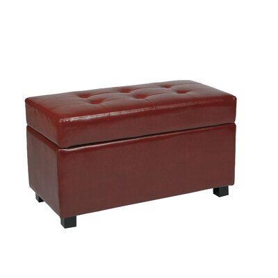 OSP Designs Metro Collection Rectangular Vinyl Storage Ottoman