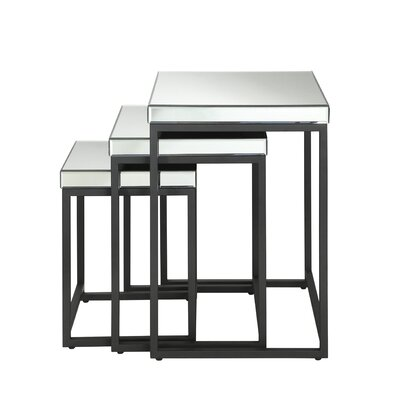 OSP Designs Krystal 3-Piece Nesting Table